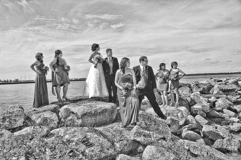 wedding photo erie pa